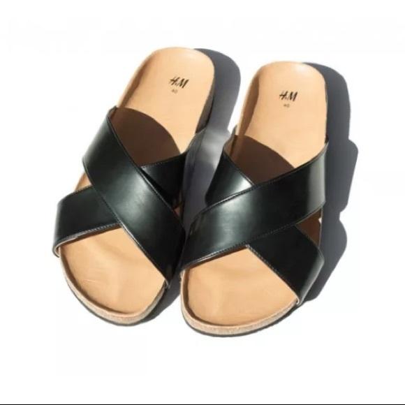 c7f682f56a4 H M Shoes - ✨Patent Leather   Cork Criss Cross Sandals